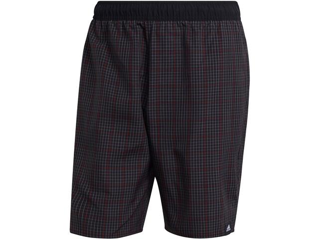 adidas Check CLX Classic Length Shorts Men, black/team colleg red